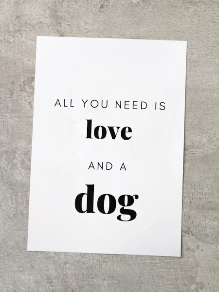 Poster *All you need is love and a dog*